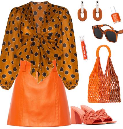 orange monochrome