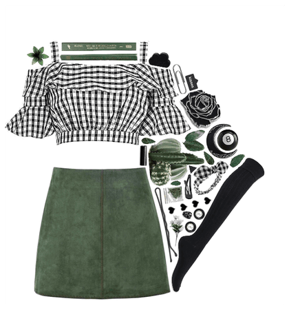 Forest Green + Black