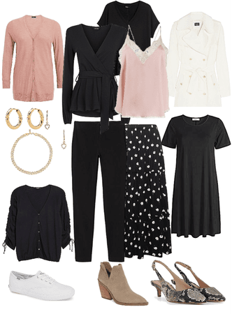 Pink Black and White Summer Holiday