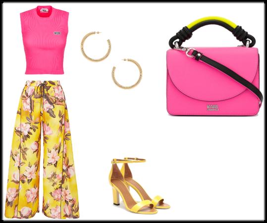 geel en roze