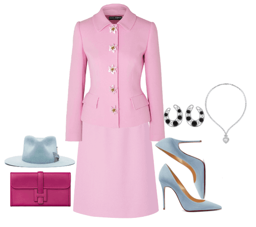 In love with baby blue suede and deep pink leather