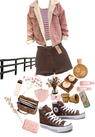 pink + brown combo