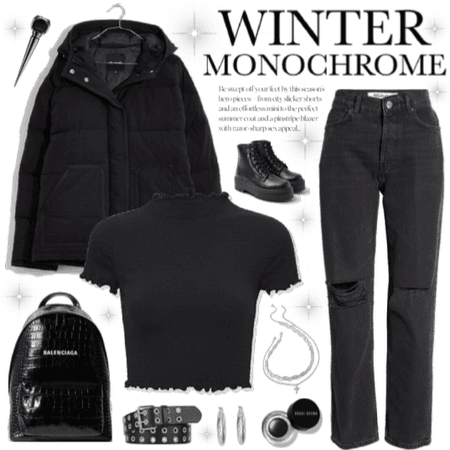 Black Winter Monochrome