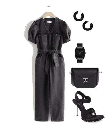 monochrome black outfit