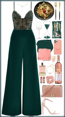Green + pink combo. Date night