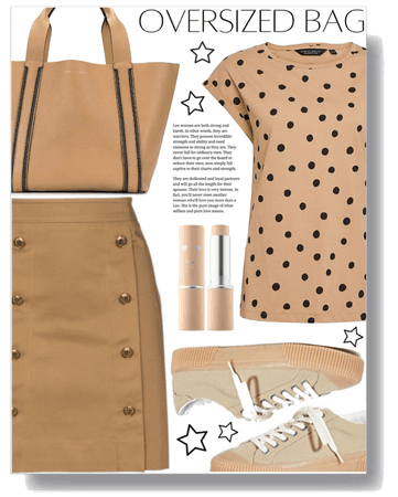 Style an oversized bag