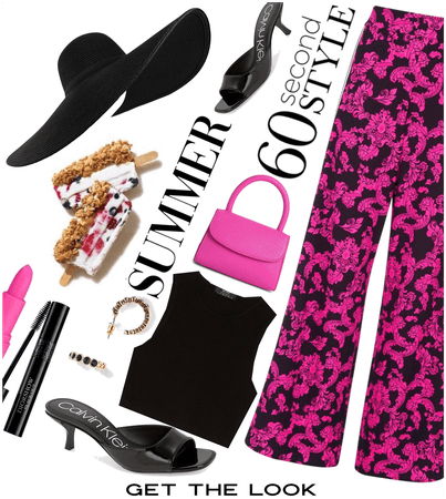 Pink and black. J