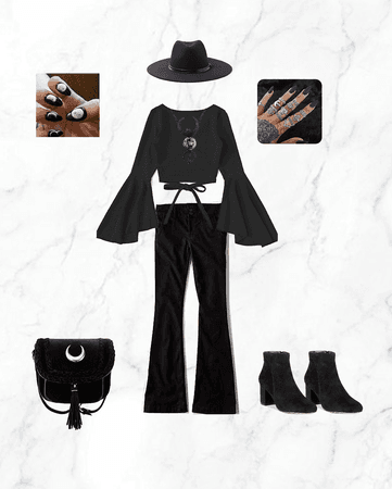 Stevie Nicks of Fleetwood Mac modern black witch inspired style