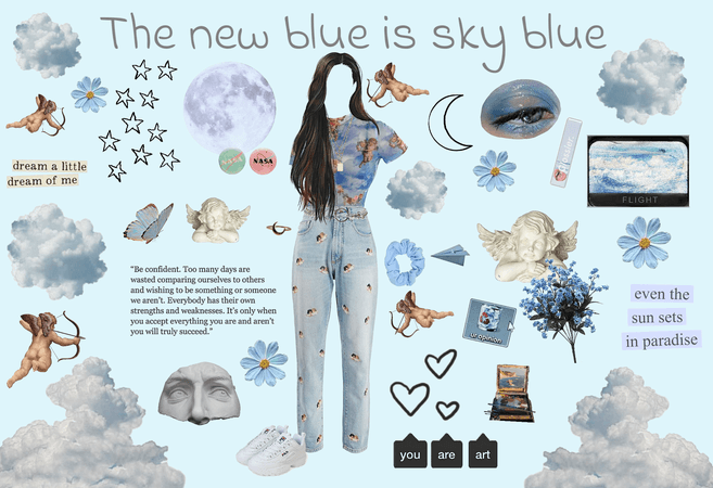 The new blue is sky blue 💙☁️