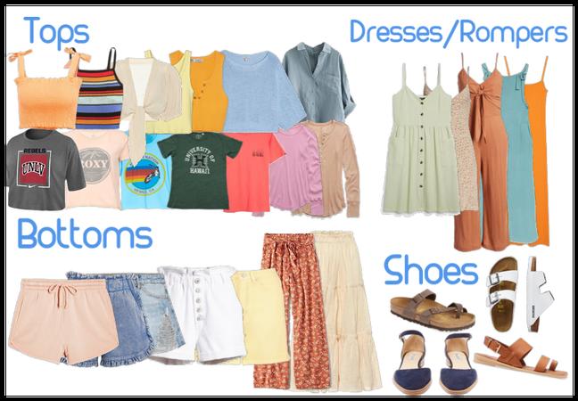 30 piece capsule wardrobe - Beachy girl