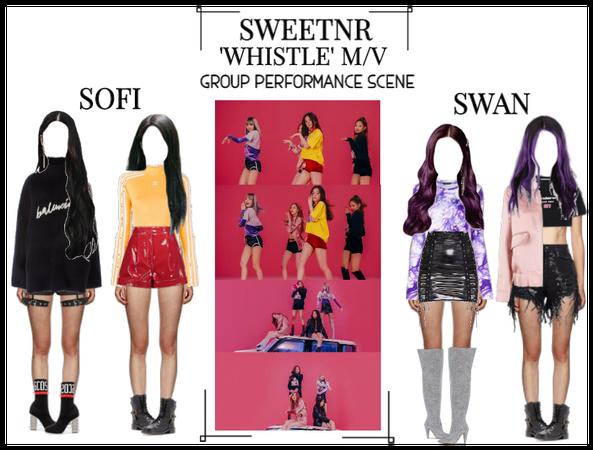 ~SWTNR~ WHISTLE M/V | GROUP PERFORMANCE SCENE