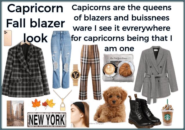Capricorn Fall Blazer look