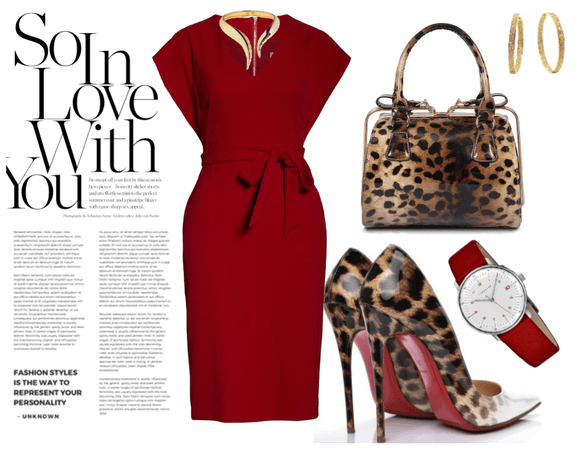 never wrong with red and leopard print