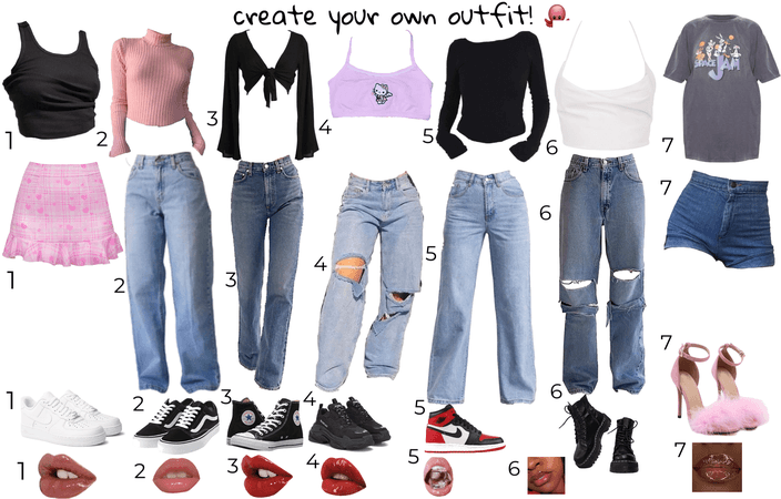 Create ur own outfit! comment what u have