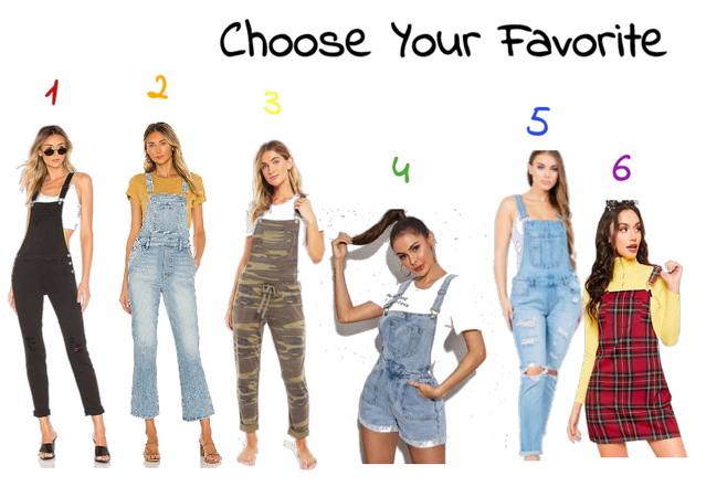 Choose your favorite Overalls