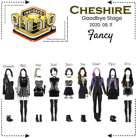 Cheshire (체셔) Inkigayo Goodbye Stage- Fancy 2020. 08. 11