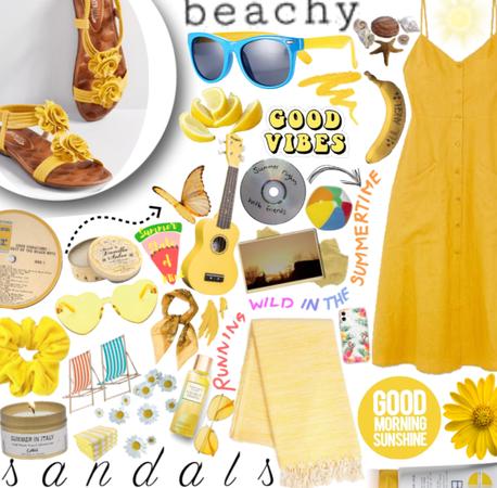 Yellow Summer sandals