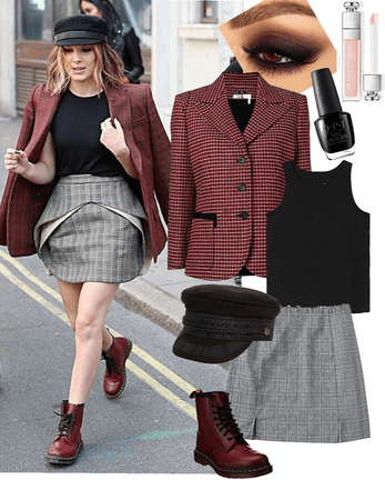 Millie Bobby Brown Plaid Street Style