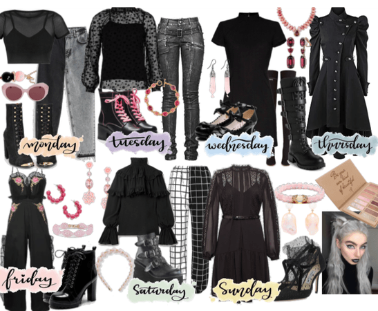 Week of outfits