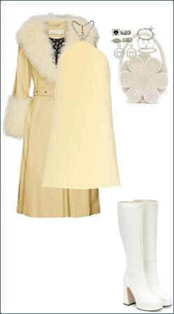 Retro Yellow and White Monochrome