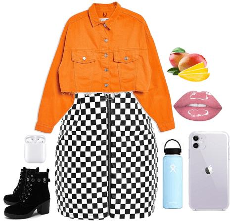 Orange and Checkered