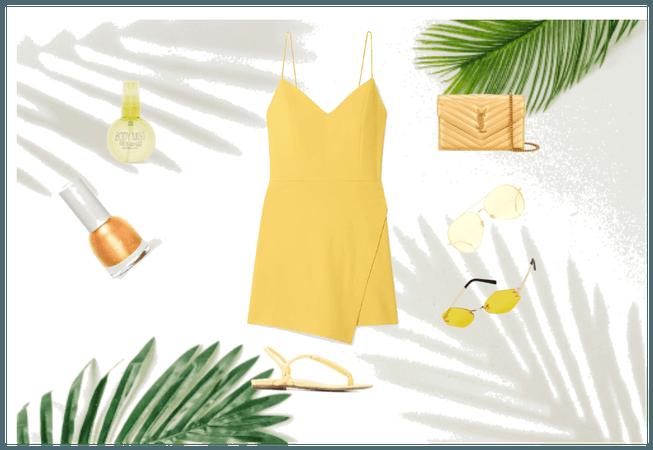 summer yellow look