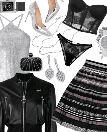 Outfit Inspo: Silver & Black