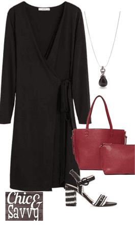 Chic&Savvy Neutral base with Red pop