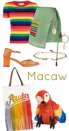 Macaw inspired look