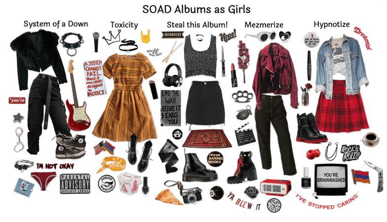 SOAD Albums as Girls