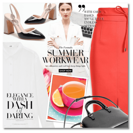 Summer Work Outfit - The Bright Pencil Skirt