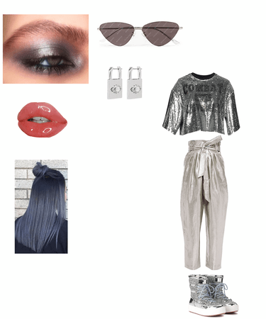 Silver Billie Eilish outfit