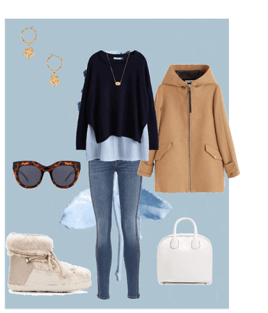 dark jeans winter outfit