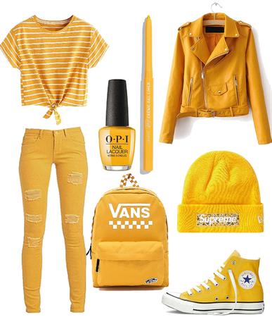 yellow casual