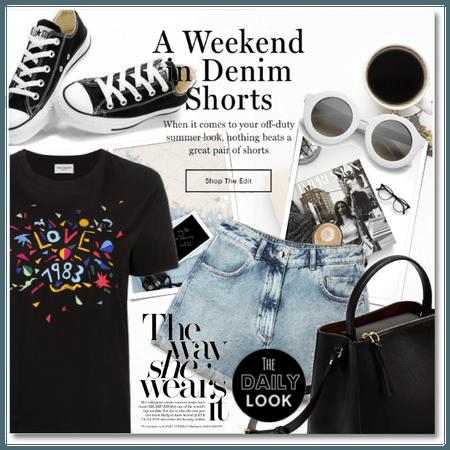 A Weekend in Denim Shorts