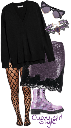 Curvy Girl Style: Royal Purple