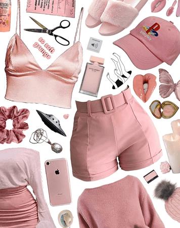 pastel pink think