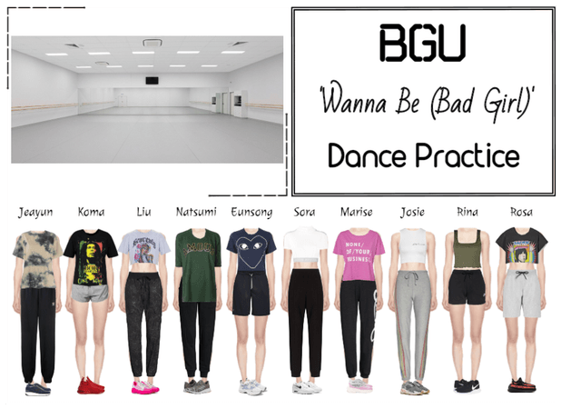 BGU 'Wanna Be (Bad Girl)' Dance Practice