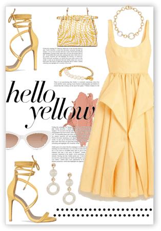 Glowing a Yellow Dress