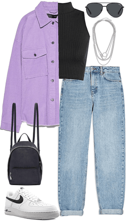 cool lilac look