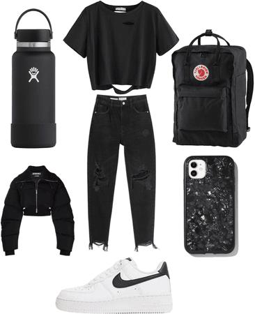 E-girl school outfit