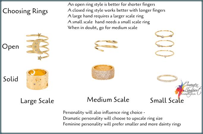 choosing rings - scale