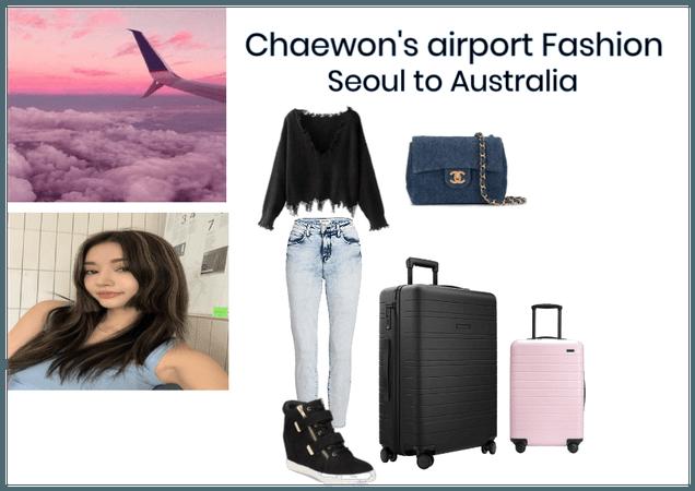 Chaewon airport fashion
