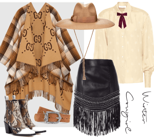 Winter Cowgirl outfit