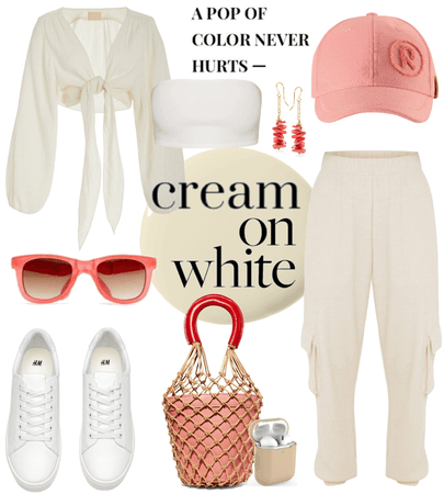 cream & white