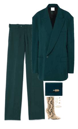 emerald suit