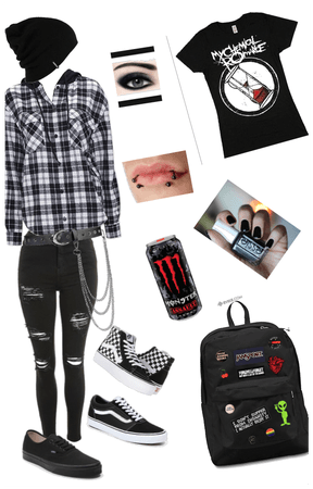 Emo back to school outfit