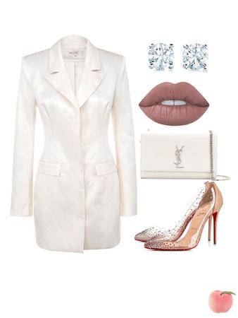 all white, date night🥛