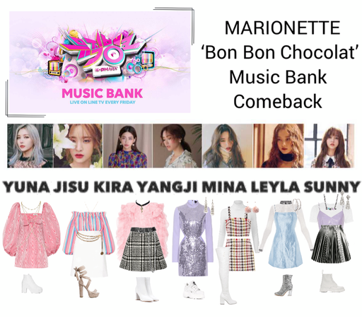 {MARIONETTE} 'Bon Bon Chocolat' Music Bank Comeback Showcase