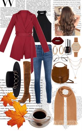 Stylishly Casual Burgundy Autumn 🍂